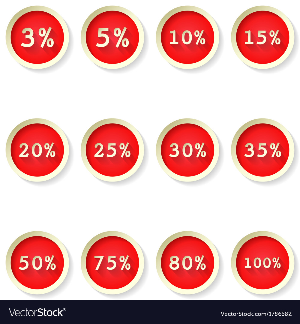 Sale percent price tag flat icons vector | Price: 1 Credit (USD $1)