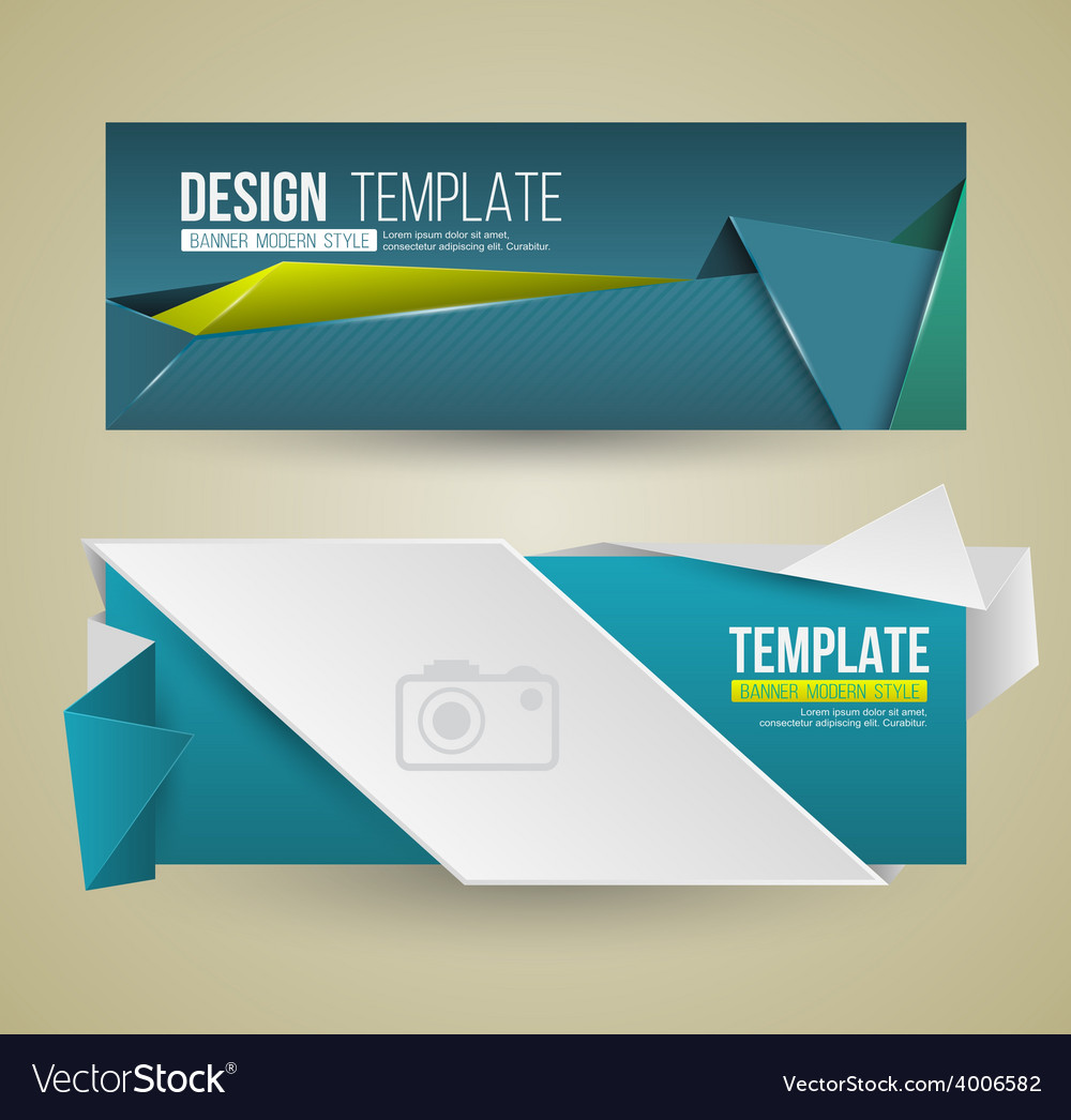 Set of modern design banners vector | Price: 1 Credit (USD $1)