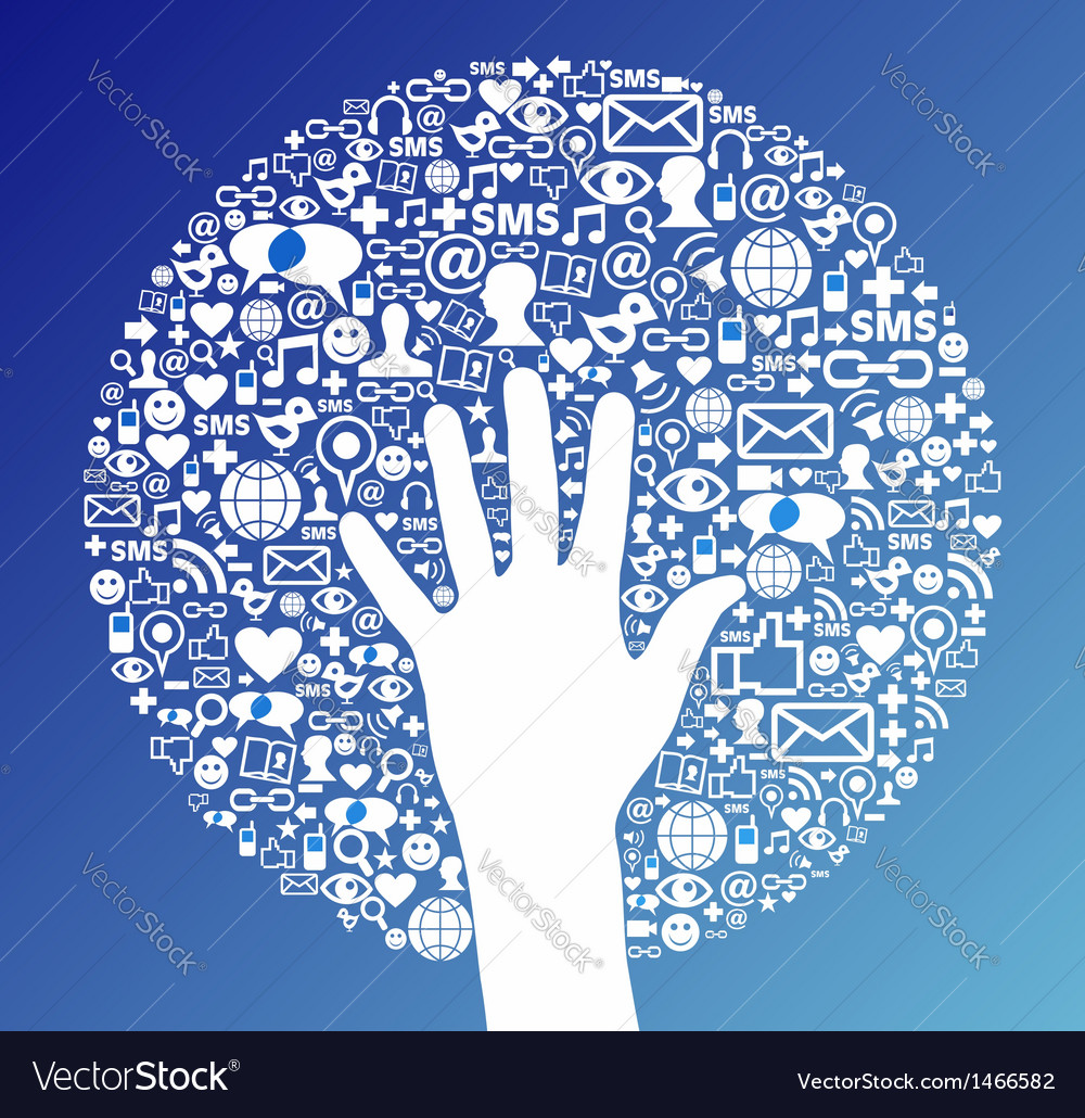 Social media network hand success vector | Price: 1 Credit (USD $1)