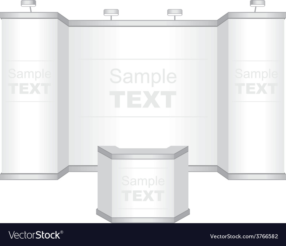 Trade exhibition stand vector | Price: 1 Credit (USD $1)