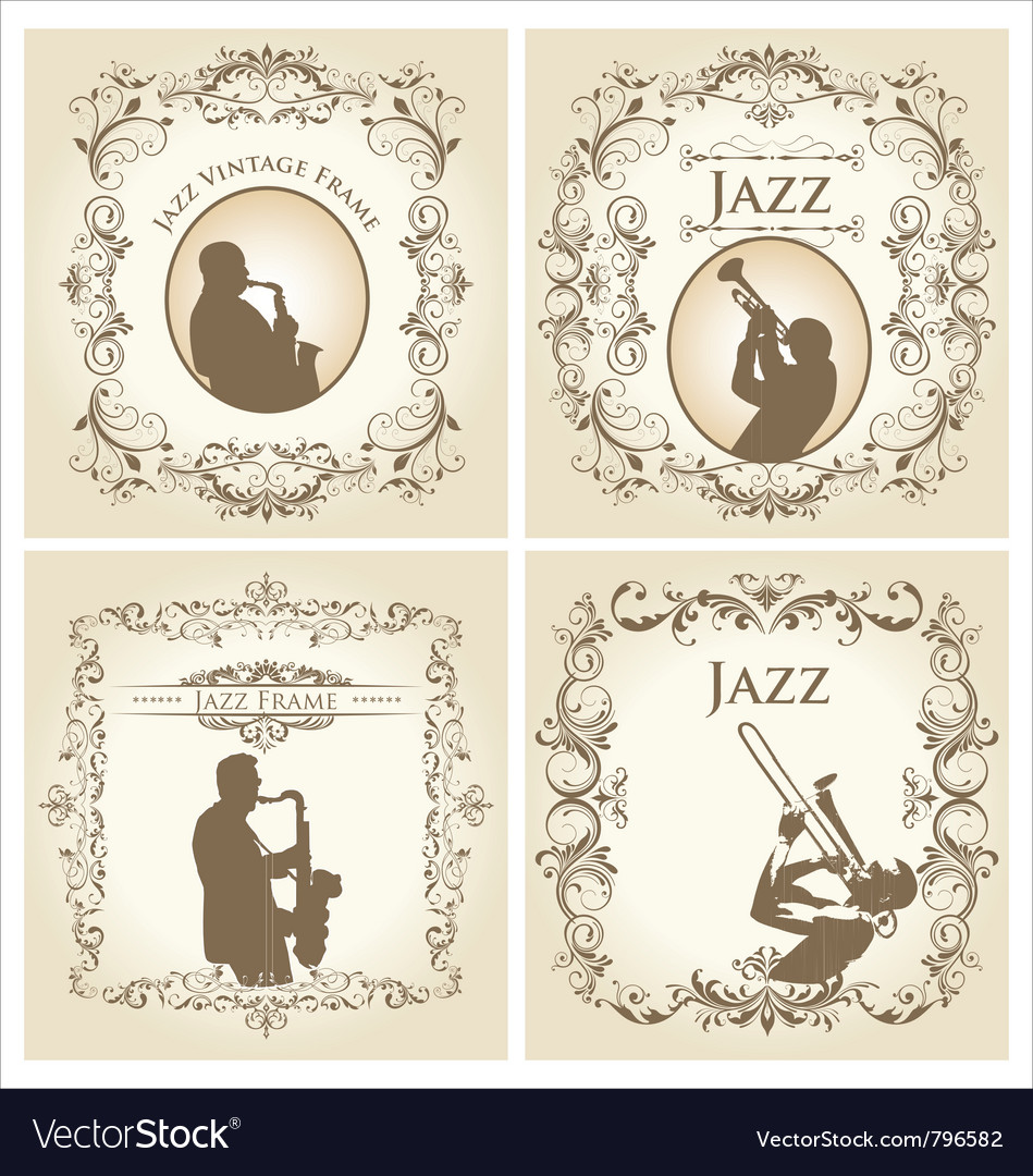Vintage frame - jazz musician vector | Price: 1 Credit (USD $1)