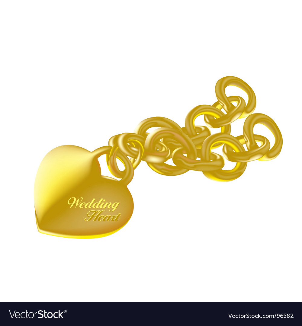 Wedding heart gold vector | Price: 1 Credit (USD $1)