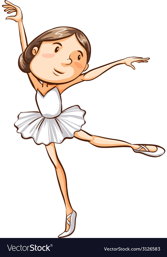 A simple sketch of a young ballerina vector | Price: 1 Credit (USD $1)