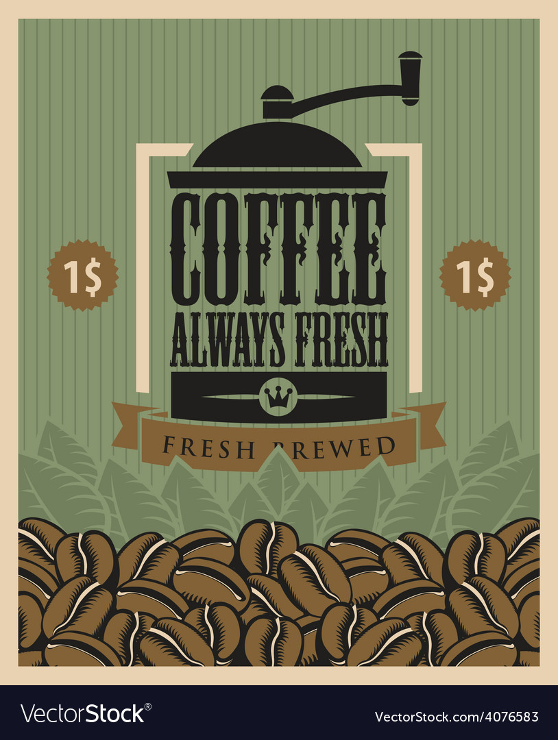 Coffee fresh vector | Price: 1 Credit (USD $1)