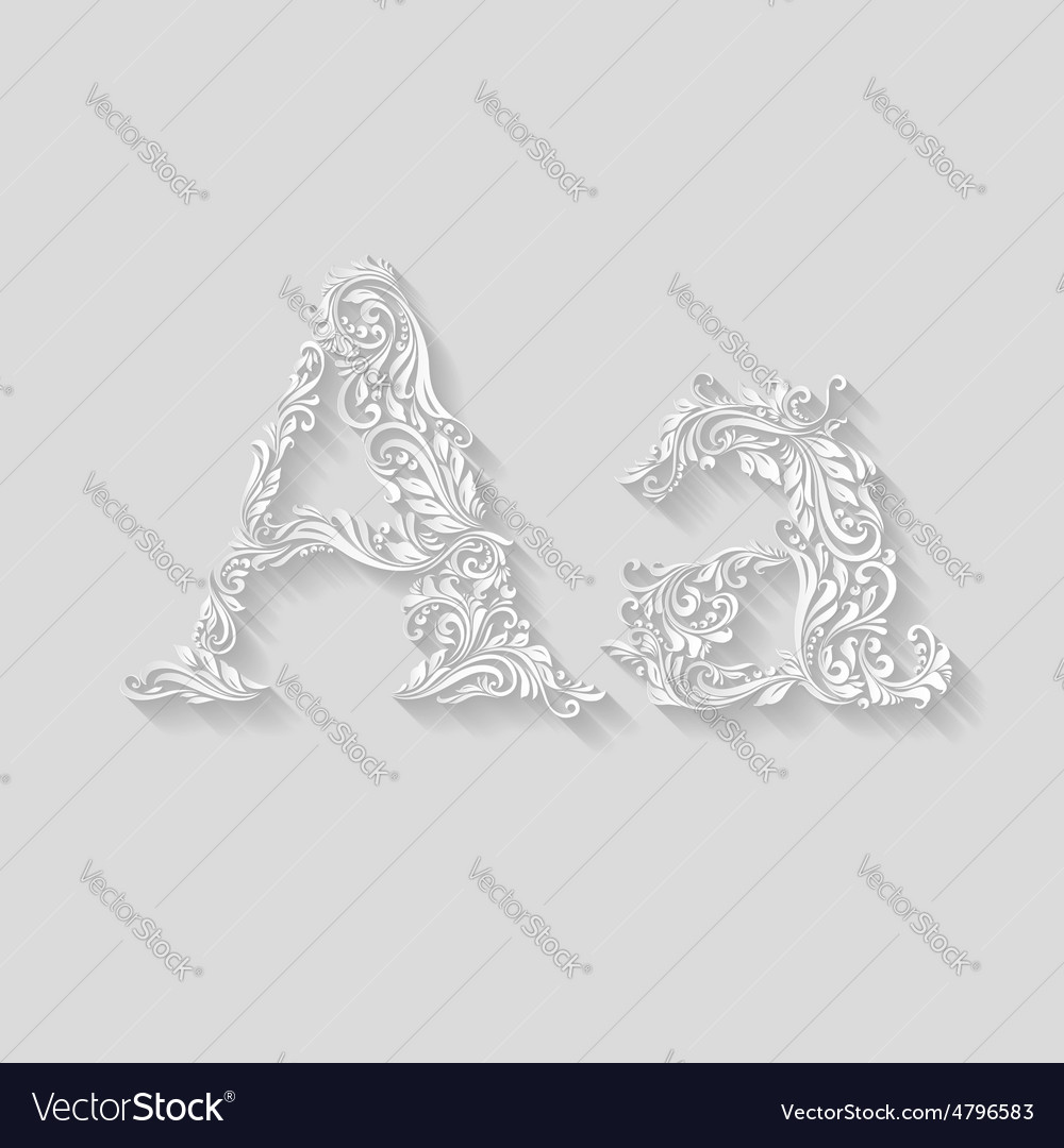 Decorated letter a vector | Price: 1 Credit (USD $1)