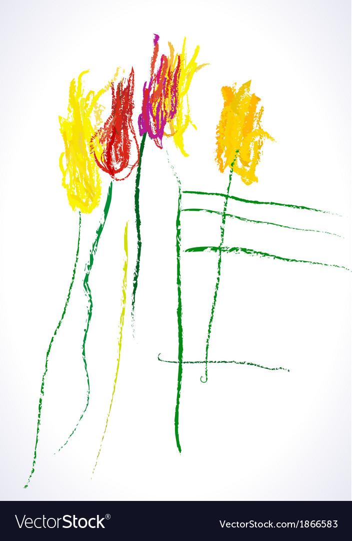 Dessin tulips vector | Price: 1 Credit (USD $1)