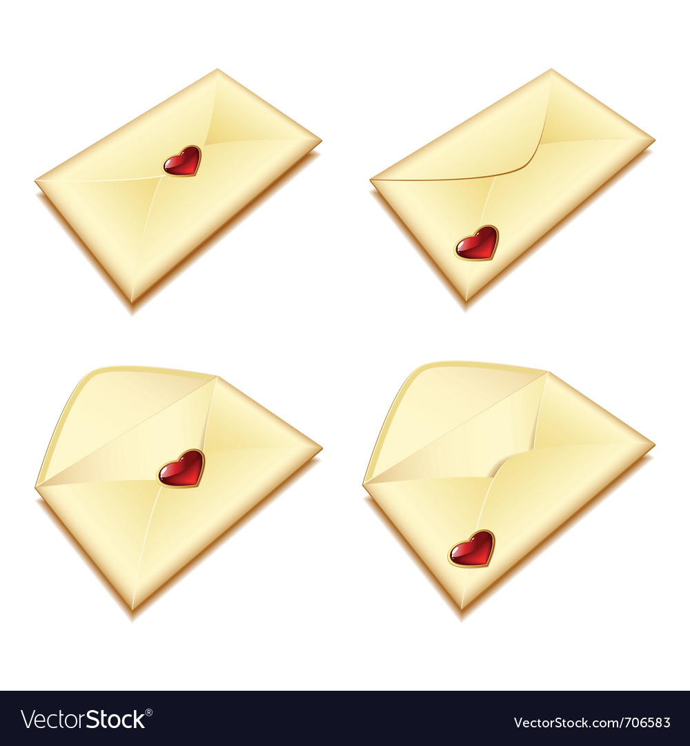 Envelope with a heart vector | Price: 1 Credit (USD $1)