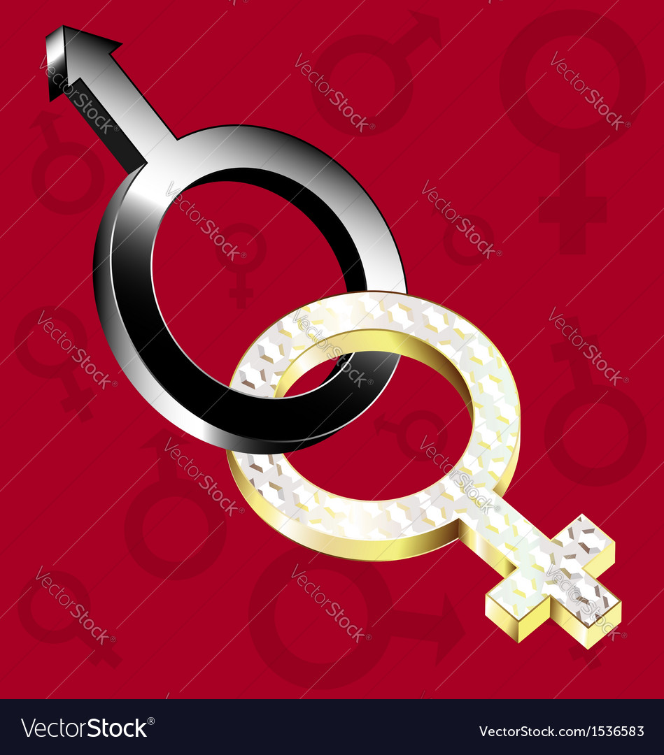 Female male vector | Price: 1 Credit (USD $1)