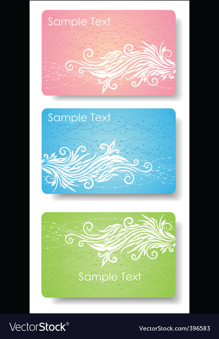 Floral card for design vector | Price: 1 Credit (USD $1)