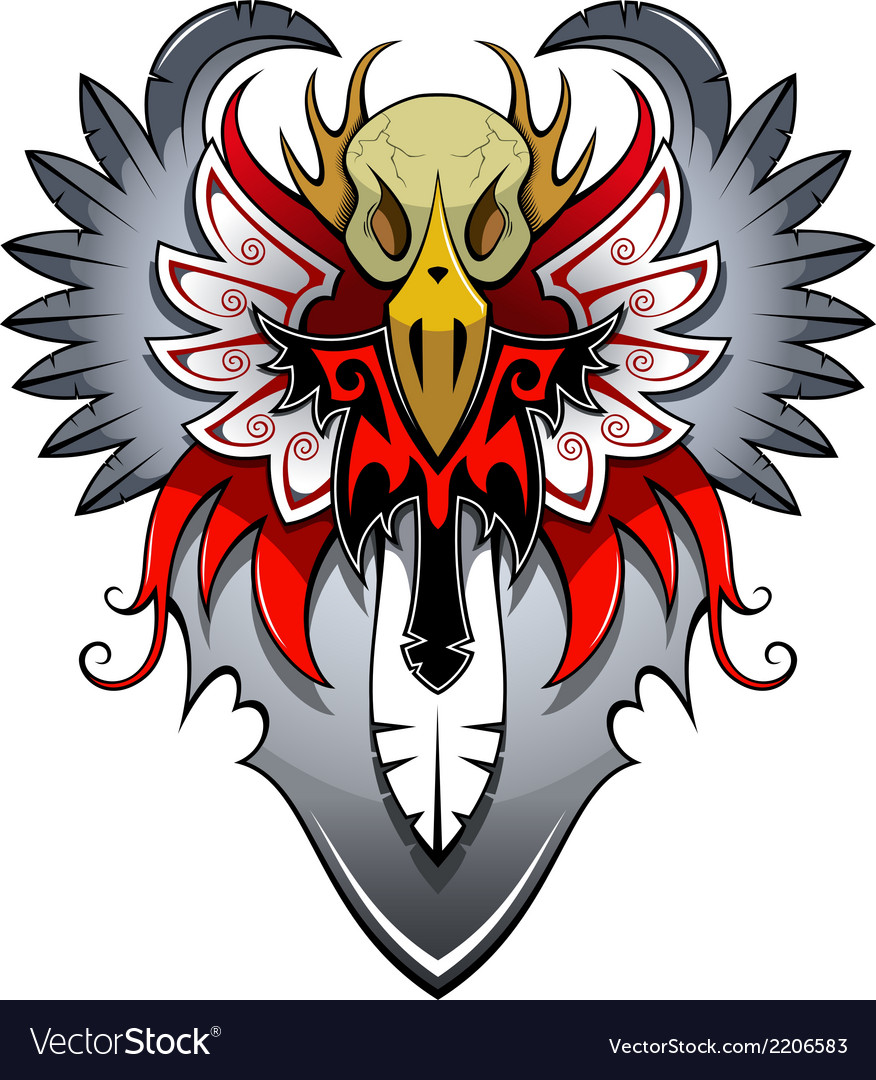 Heraldic bird vector | Price: 1 Credit (USD $1)