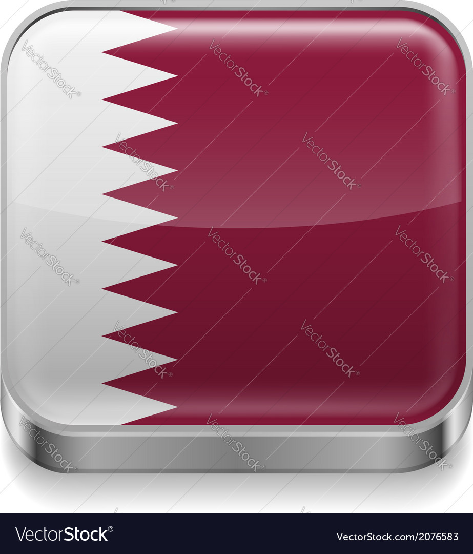 Metal icon of qatar vector | Price: 1 Credit (USD $1)
