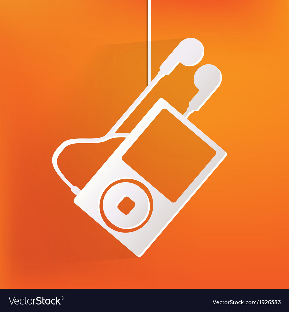 Mp3 player icon vector | Price: 1 Credit (USD $1)