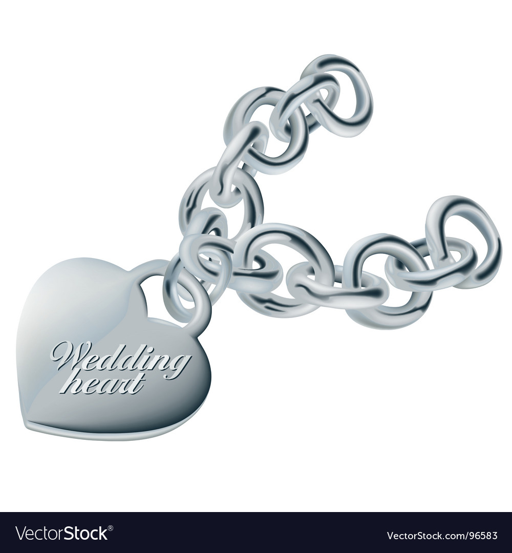 Wedding heart silver vector | Price: 1 Credit (USD $1)