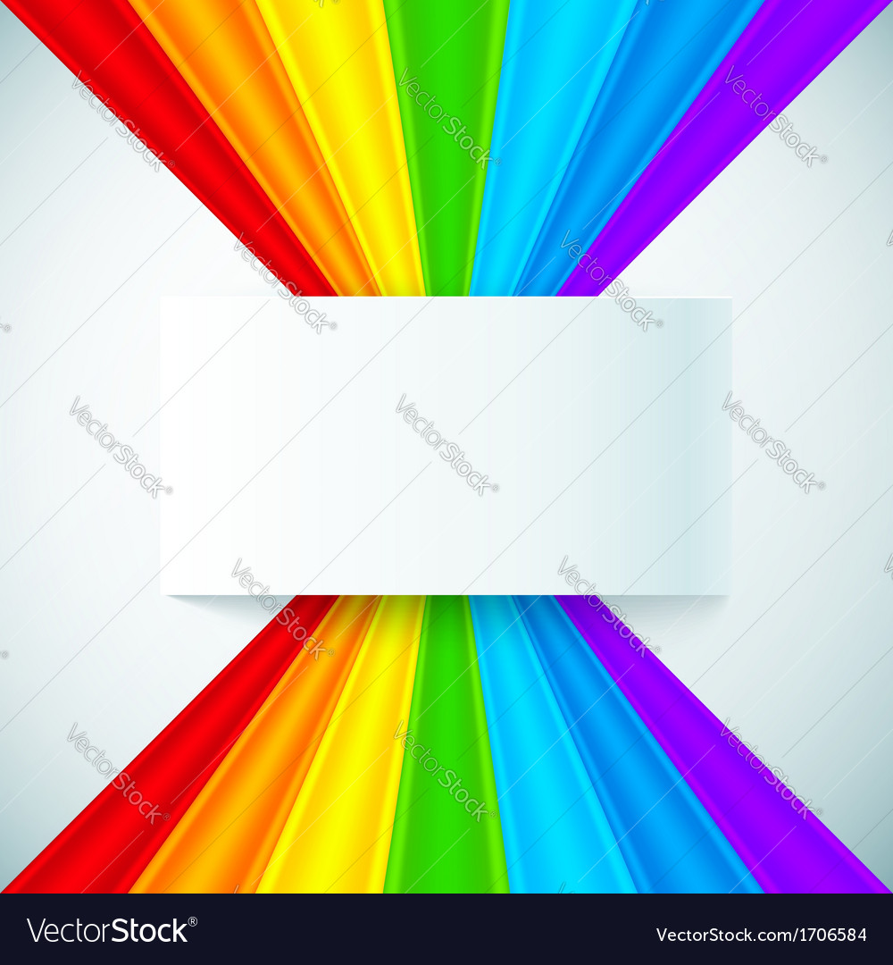 Abstract rainbow stripes with paper label vector | Price: 1 Credit (USD $1)