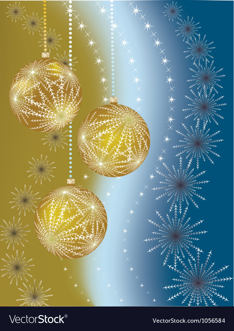 Christmas balls on gradient background vector | Price: 1 Credit (USD $1)