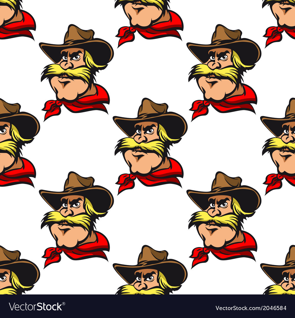 Cowboy seamless pattern vector | Price: 1 Credit (USD $1)