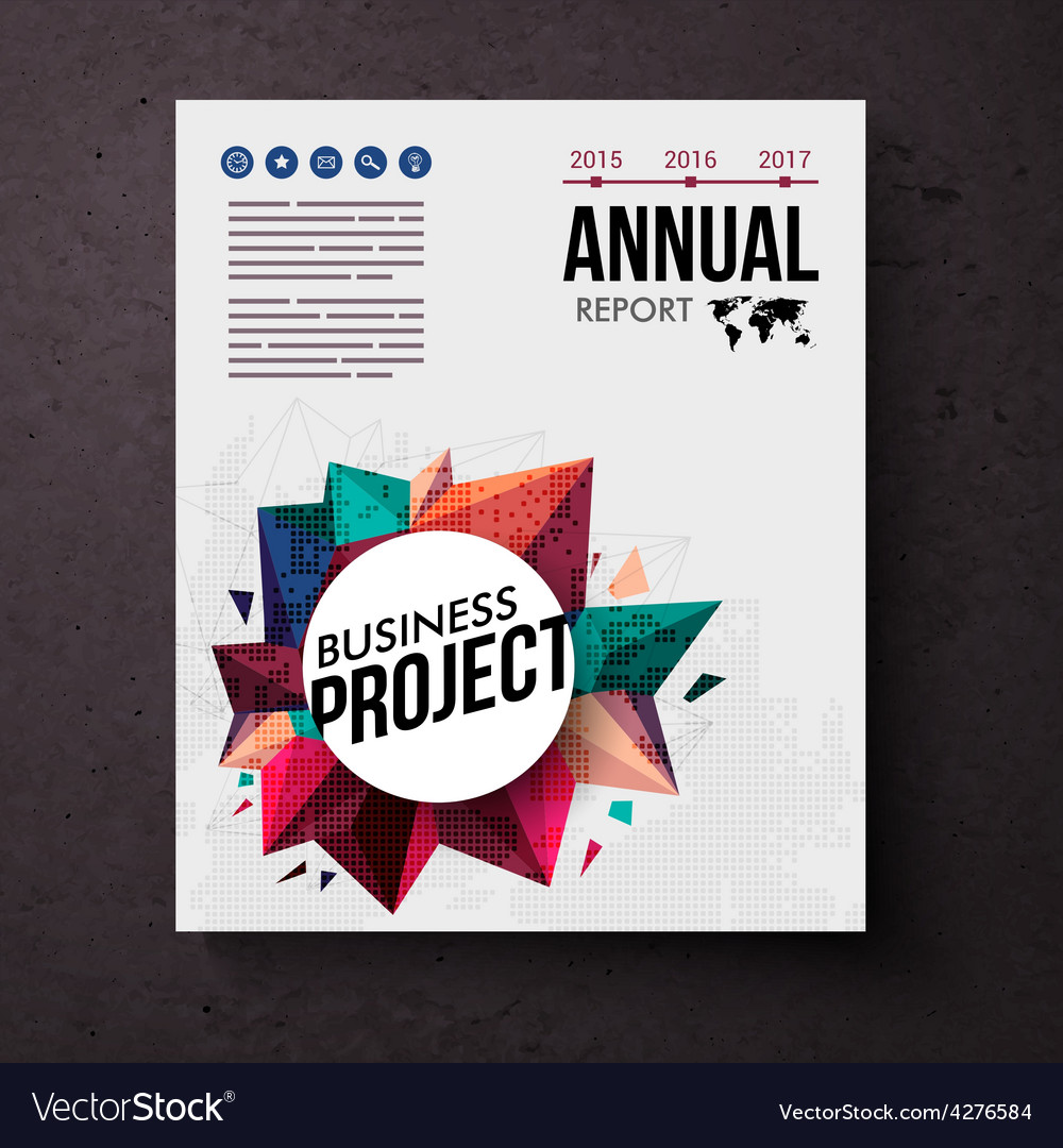 Design template for an annual business report vector | Price: 1 Credit (USD $1)