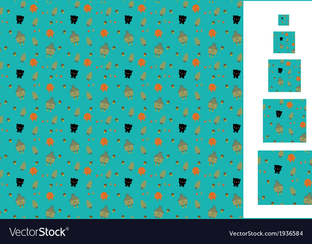 Fairytale pattern vector | Price: 1 Credit (USD $1)