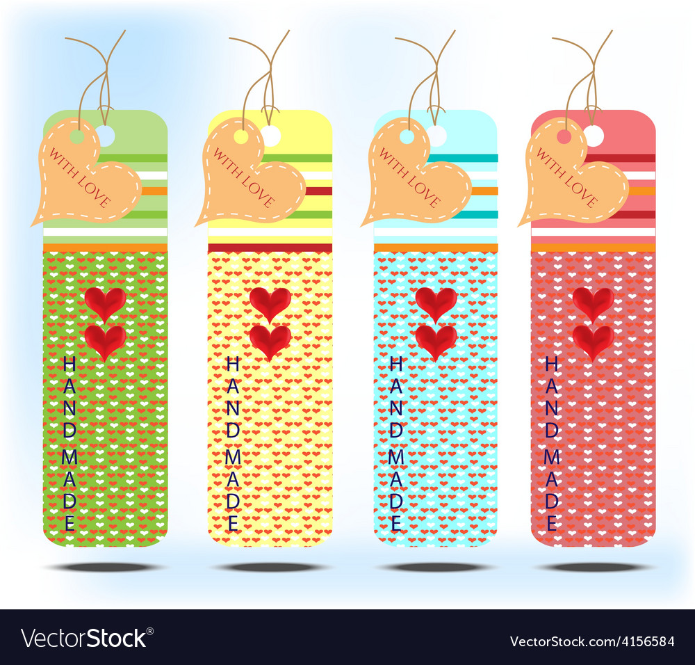 Four colorful card with heart vector   Price: 1 Credit (USD $1)