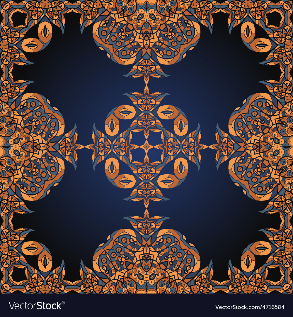 Henna coloured seamless ornamental background in vector   Price: 1 Credit (USD $1)