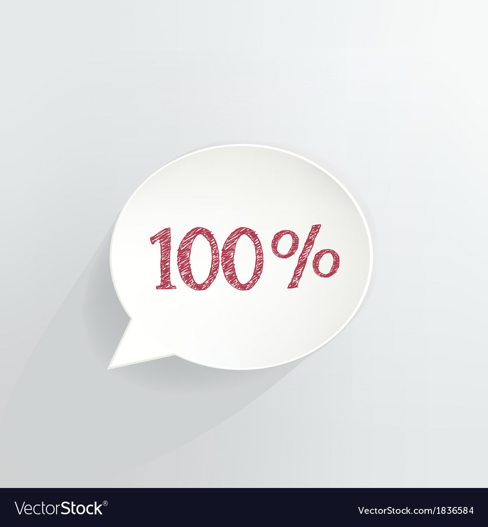 Hundred percent discount vector | Price: 1 Credit (USD $1)