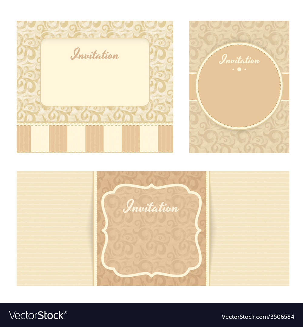 Invitation cards set vector | Price: 1 Credit (USD $1)