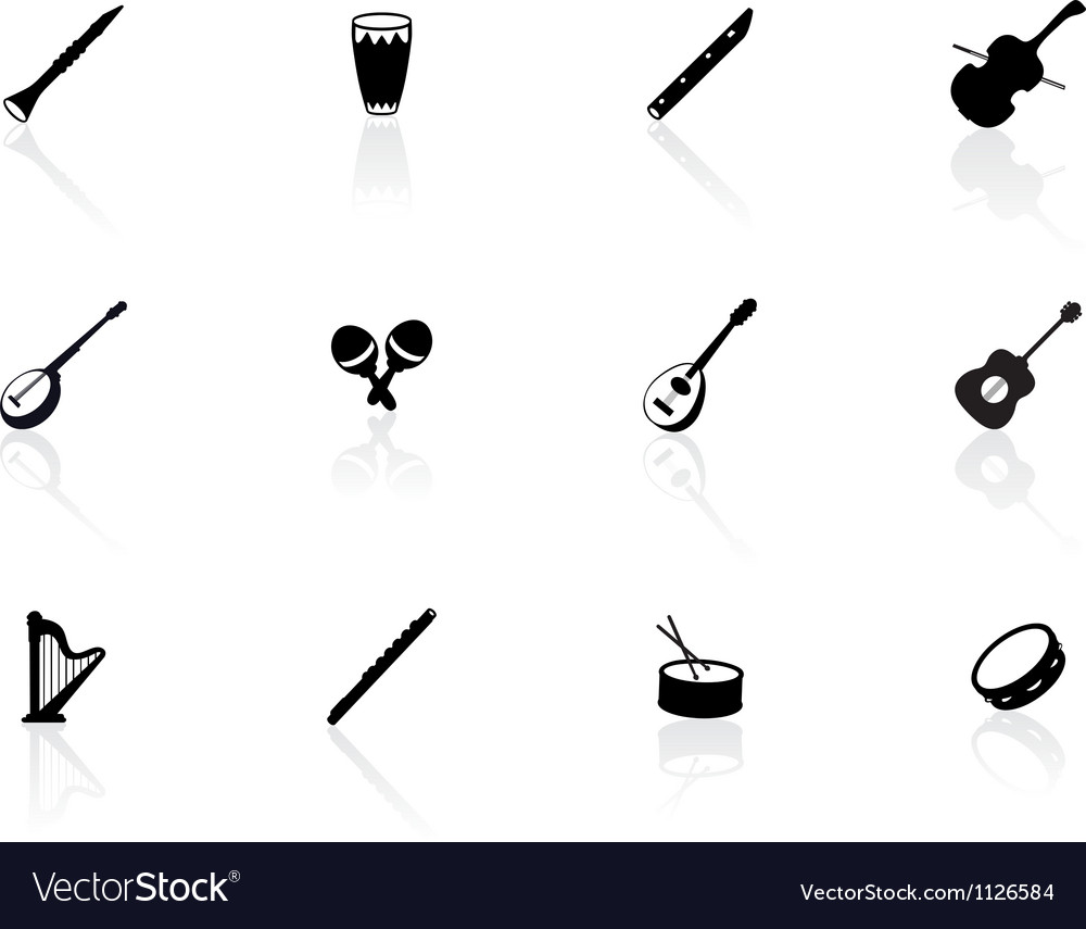 Musical instrument icons vector | Price: 1 Credit (USD $1)