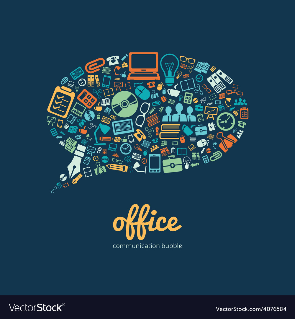 Office communication bubble vector | Price: 1 Credit (USD $1)