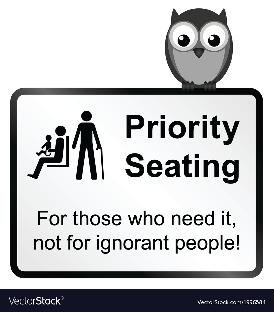 Priority seating vector | Price: 1 Credit (USD $1)