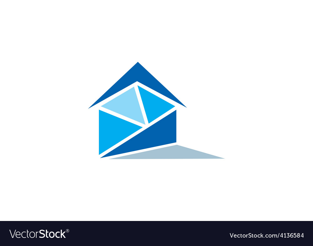 Realty home message logo vector | Price: 1 Credit (USD $1)