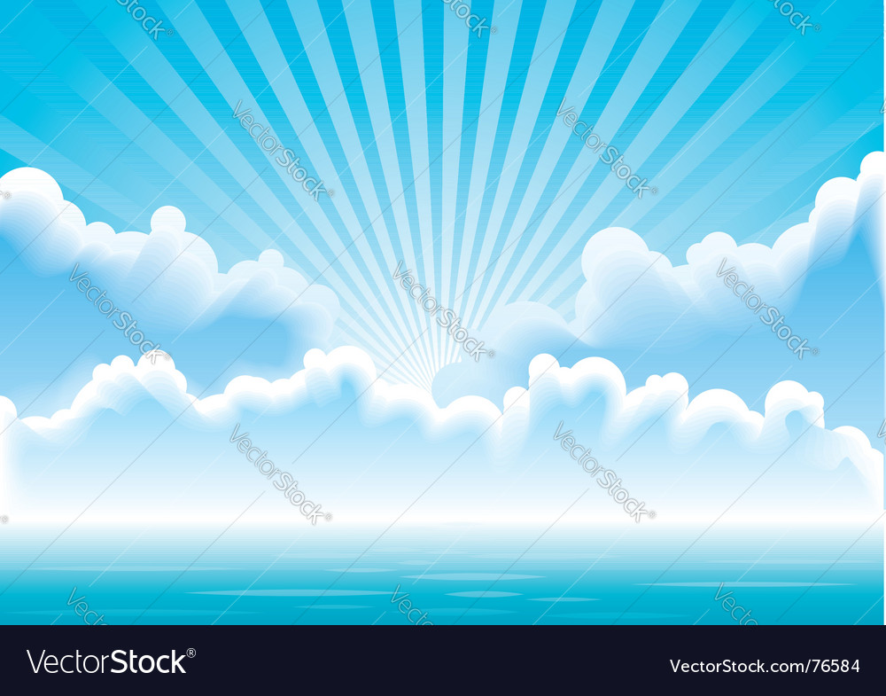 Seascape vector | Price: 1 Credit (USD $1)