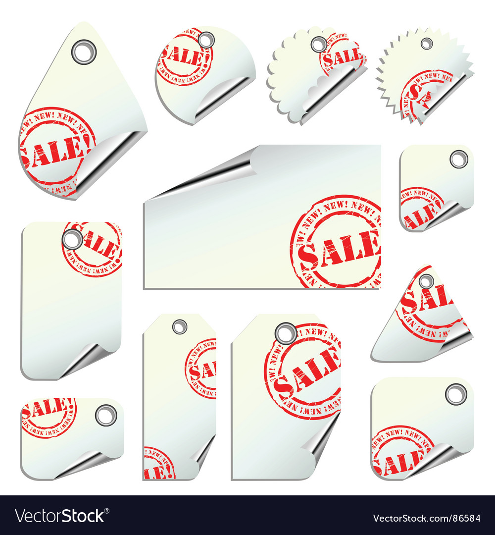 Tags sale vector | Price: 1 Credit (USD $1)