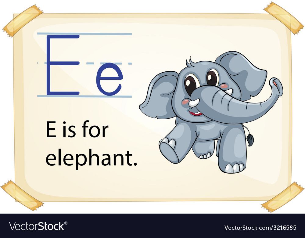 Alphabet e vector | Price: 1 Credit (USD $1)