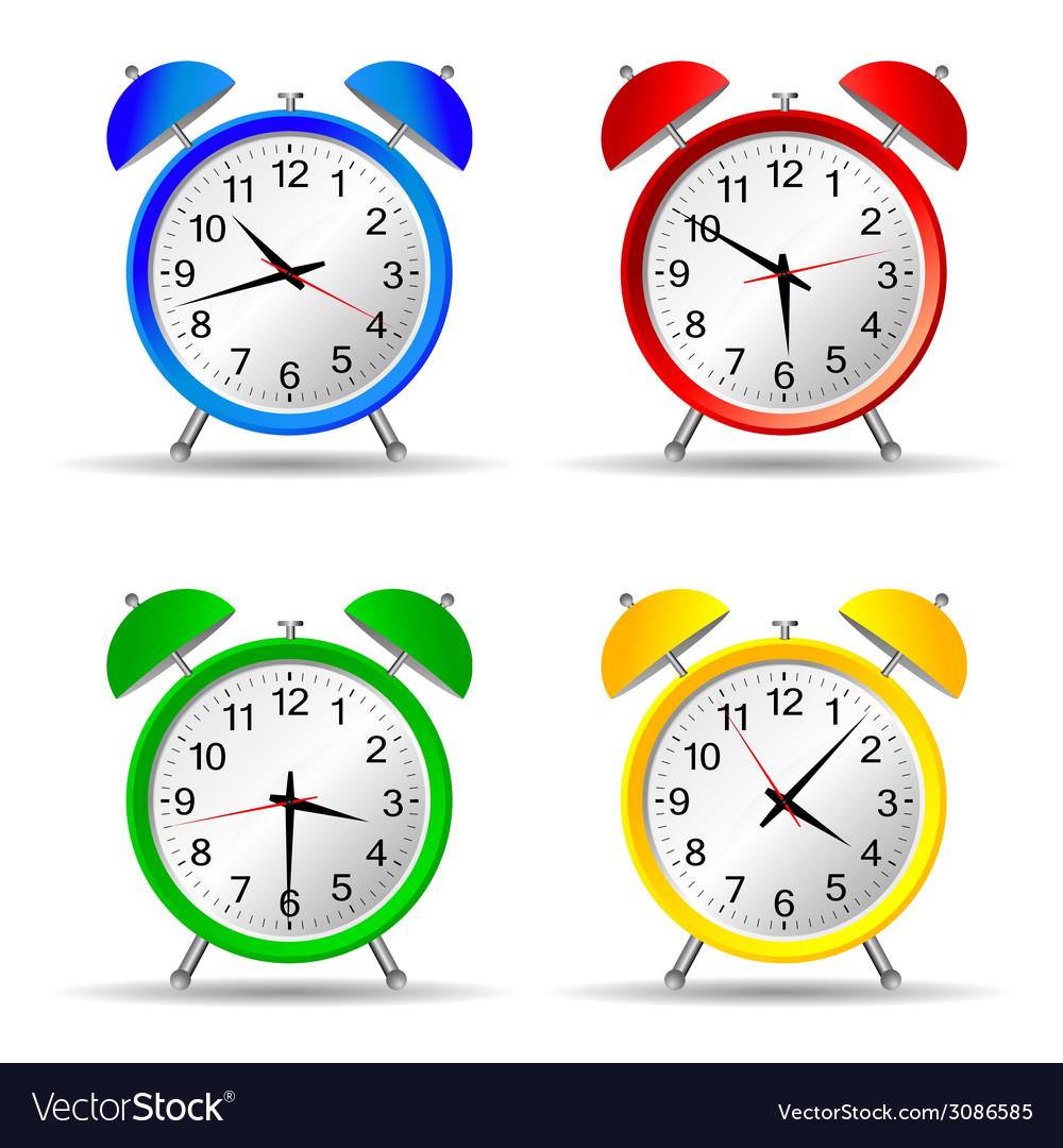 Beauty clock vector | Price: 1 Credit (USD $1)