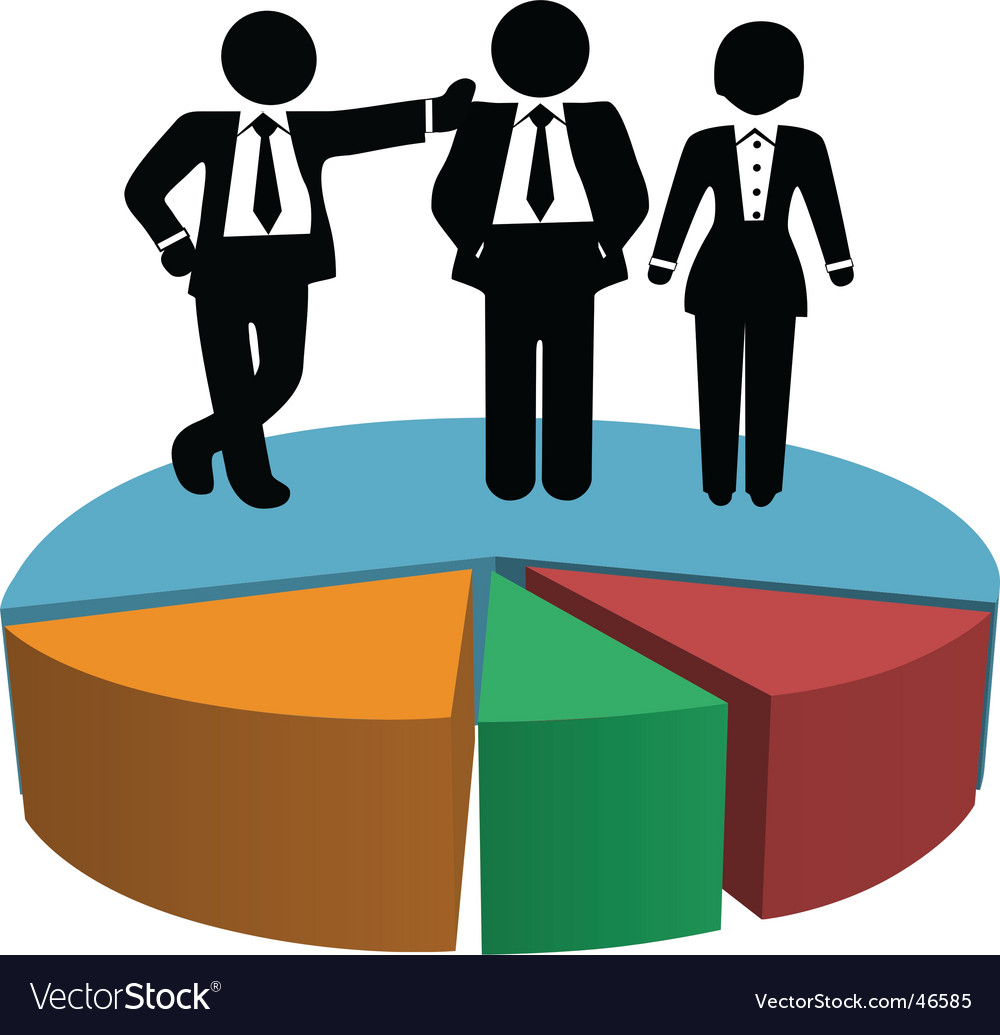 Business people sales team vector | Price: 1 Credit (USD $1)