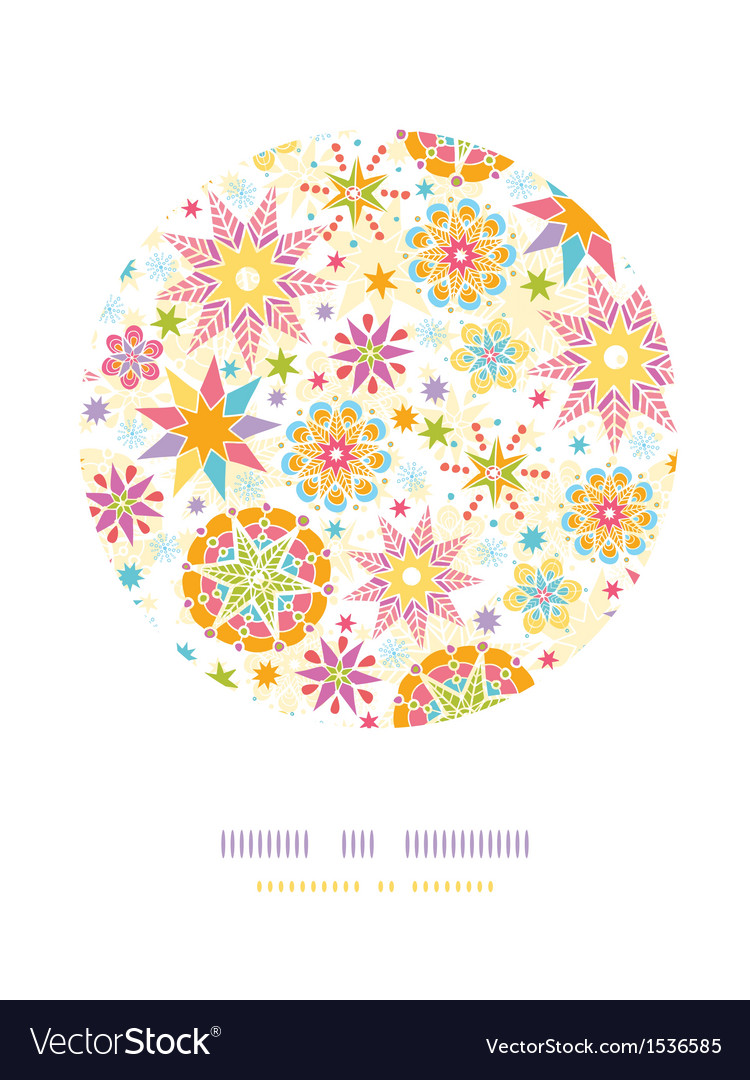 Colorful christmas stars circle decor pattern vector | Price: 1 Credit (USD $1)