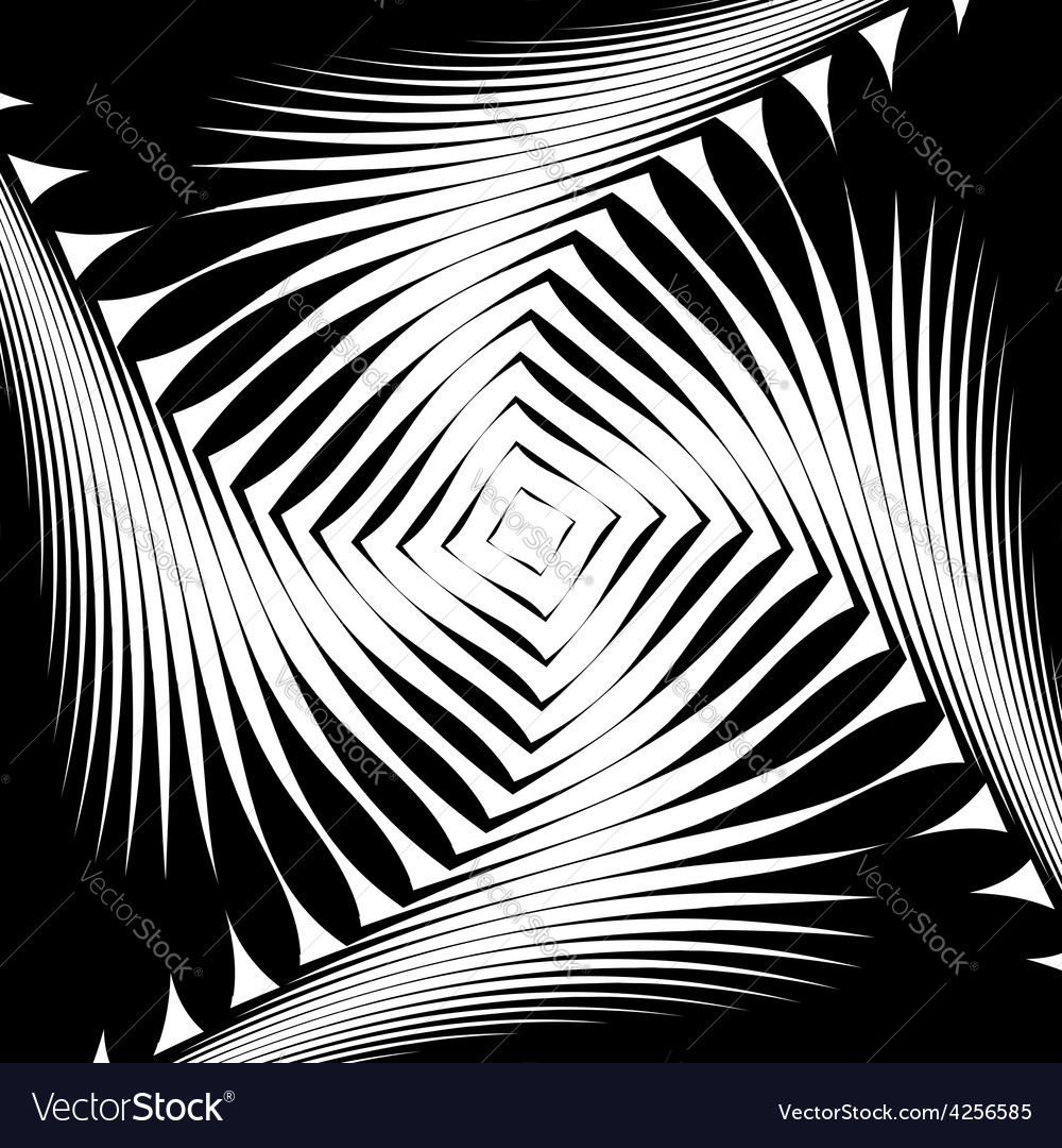 Design monochrome whirl movement background vector | Price: 1 Credit (USD $1)