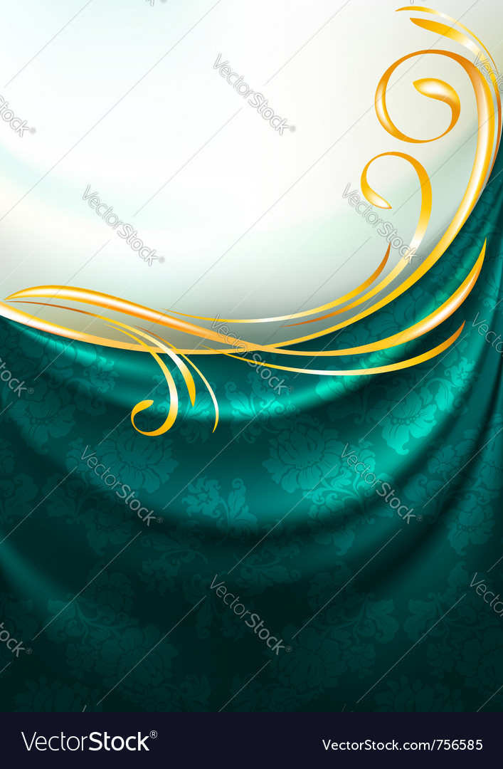 Emerald fabric drapes vector | Price: 1 Credit (USD $1)