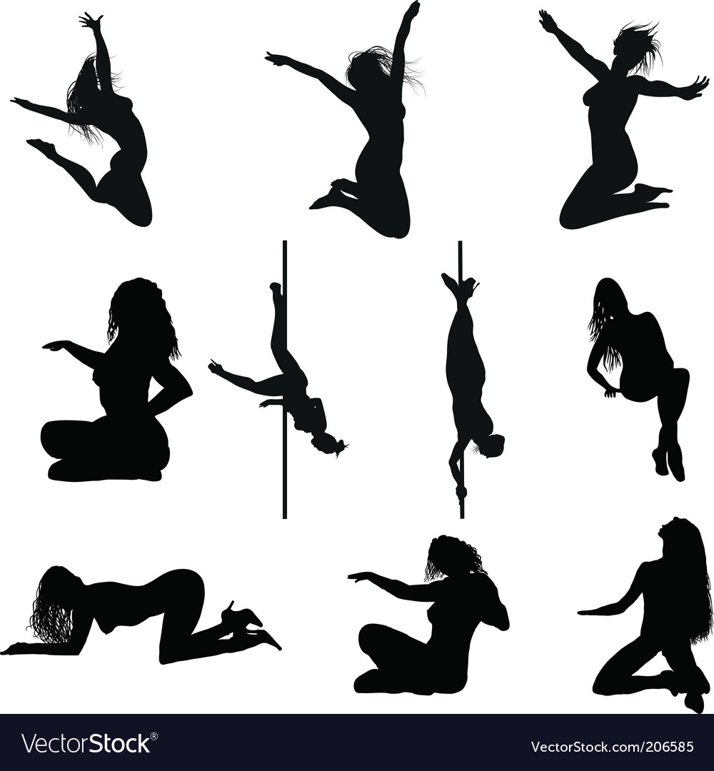 Erotic silhouette set vector | Price: 1 Credit (USD $1)