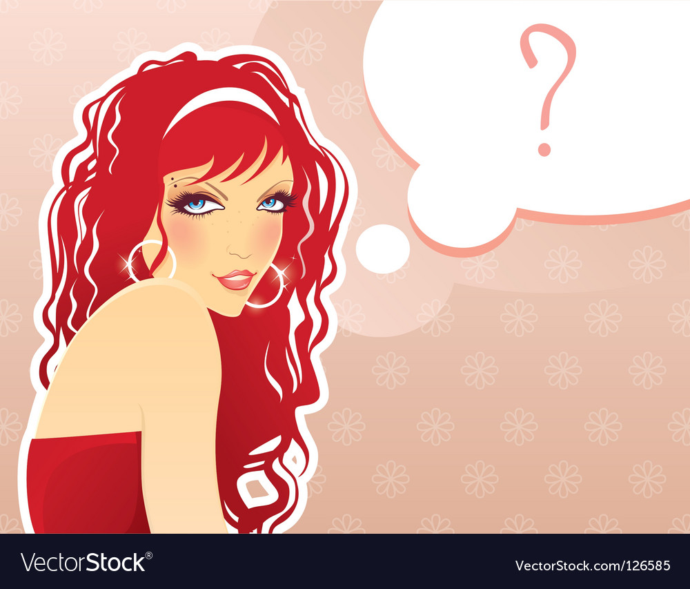 Girl with red hair vector | Price: 3 Credit (USD $3)