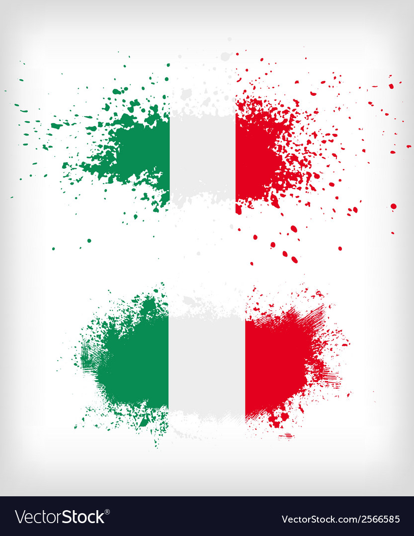 Grunge italian ink splattered flag vector | Price: 1 Credit (USD $1)