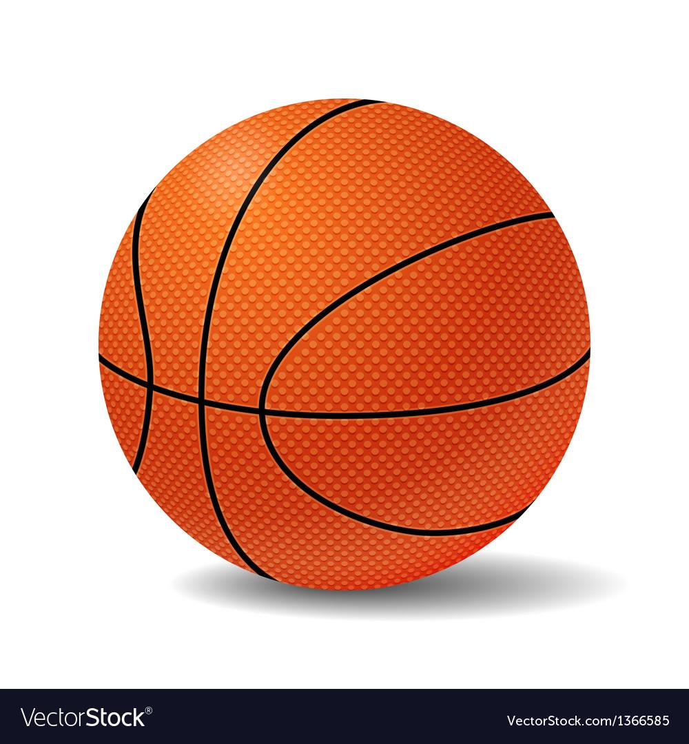 Realistic basketball ball vector | Price: 1 Credit (USD $1)