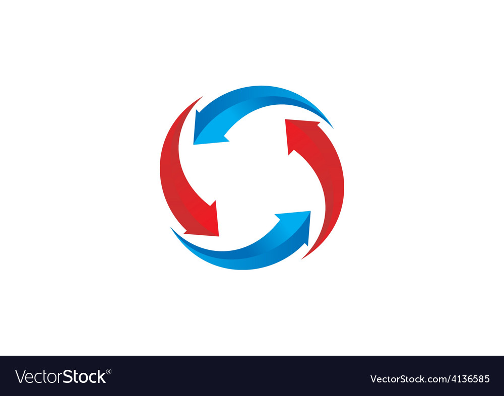 Recycle circular arrow business logo vector | Price: 1 Credit (USD $1)