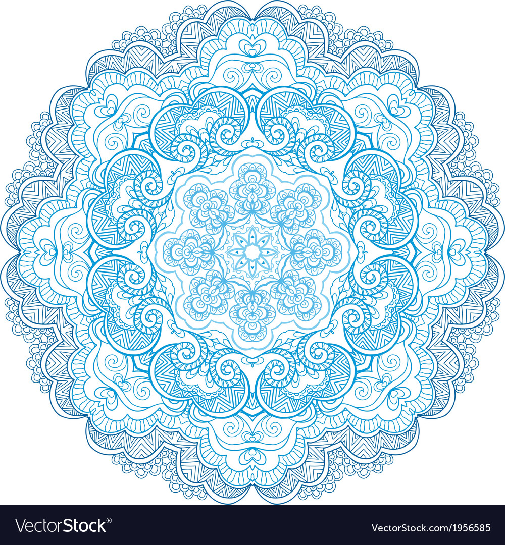 Round ornament vector | Price: 1 Credit (USD $1)