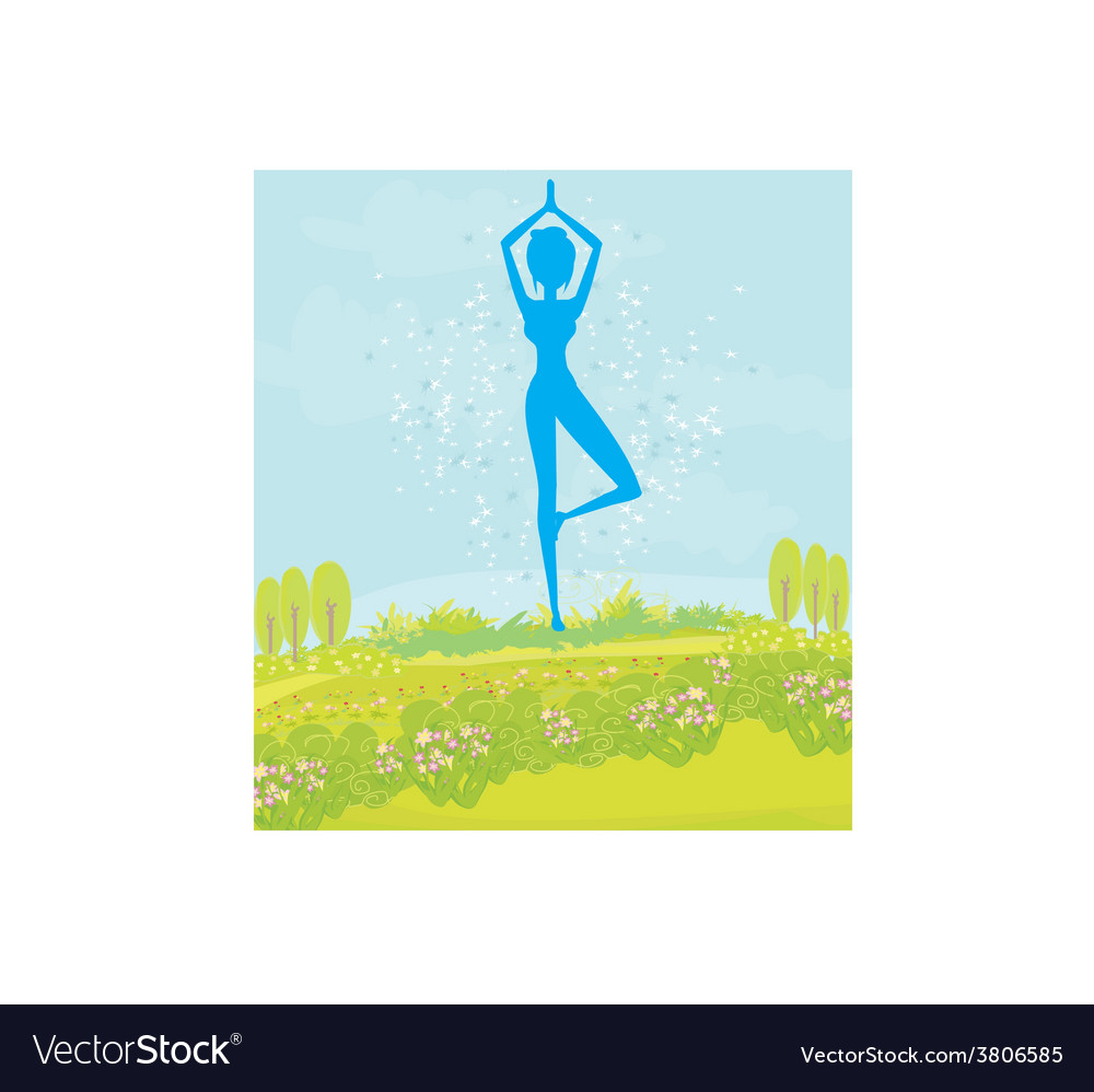 Woman in a traditional yoga pose vector | Price: 1 Credit (USD $1)