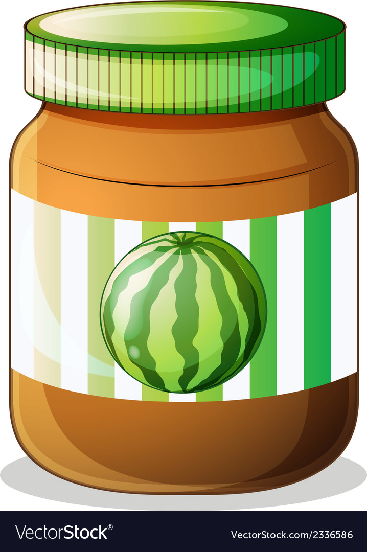 A jar of watermelon jam vector | Price: 1 Credit (USD $1)