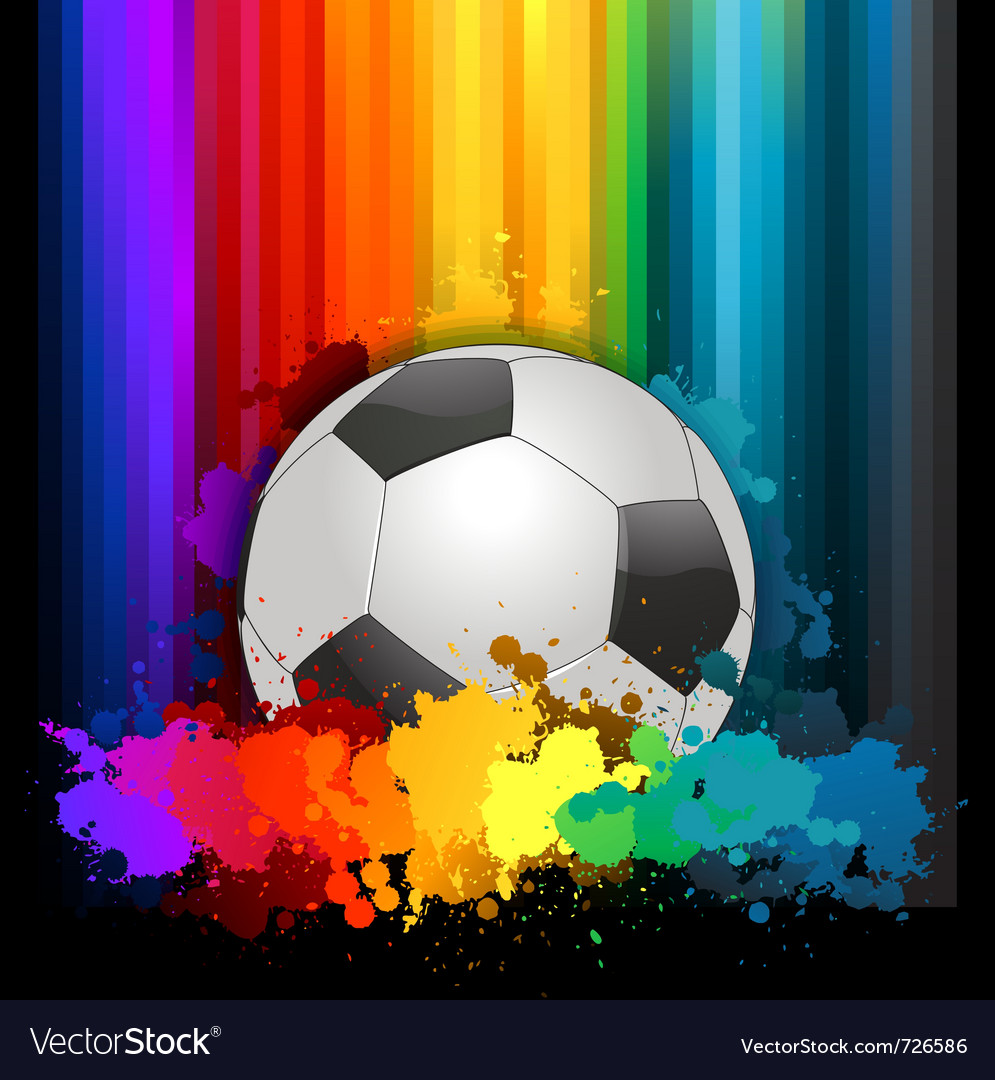 Abstract colorful soccer background vector | Price: 1 Credit (USD $1)