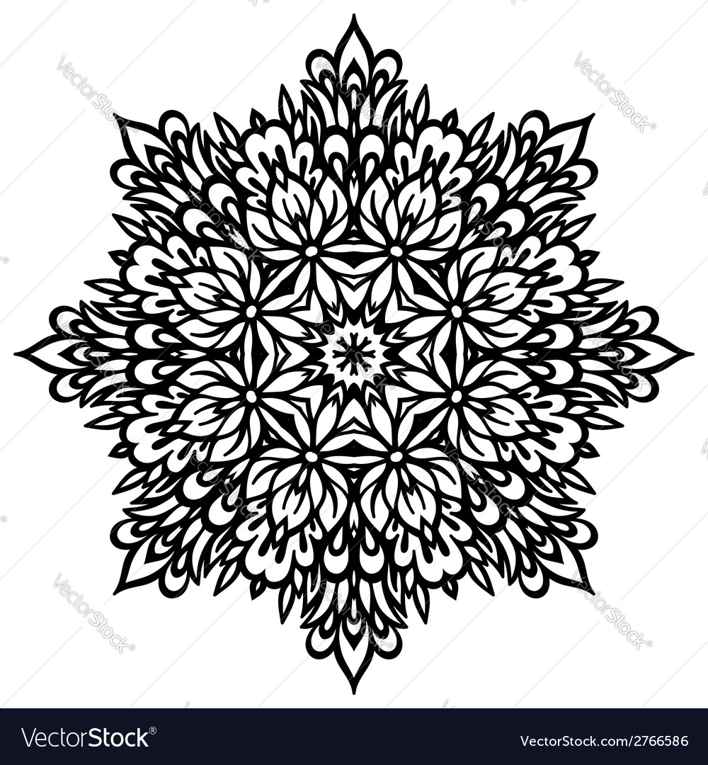 Abstract flower mandala decorative element for vector | Price: 1 Credit (USD $1)