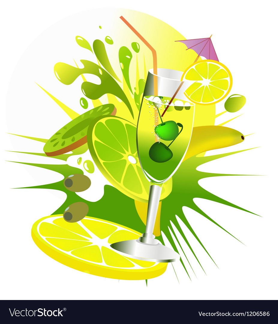 Citrus party drinks vector | Price: 1 Credit (USD $1)