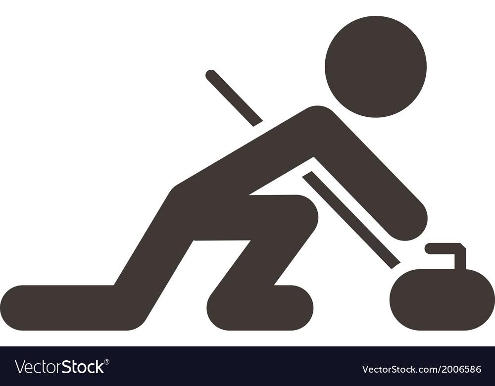 Curling icon vector | Price: 1 Credit (USD $1)